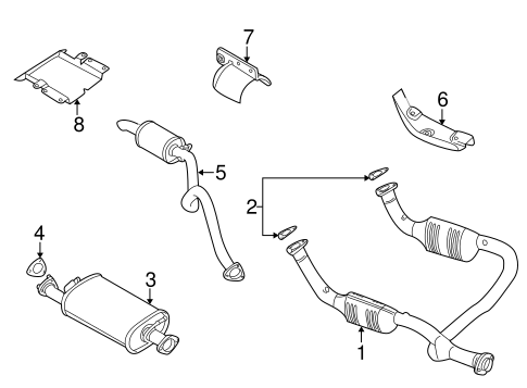 Exhaust Components For 2004 Land Rover Discovery