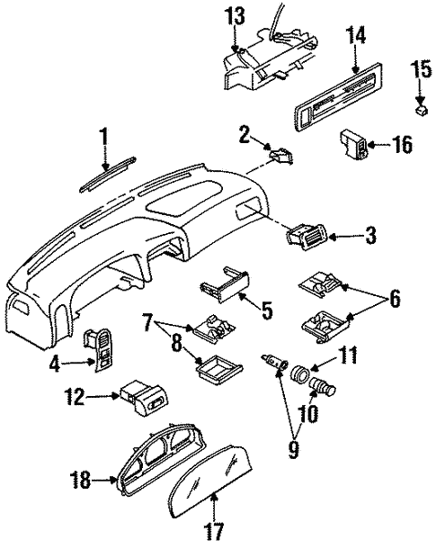 Electrical/Switches for 1994 Nissan D21 #2