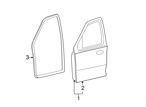 Body/Door & Components for 2002 Ford Escape #1