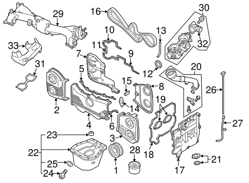 Engine Parts for 2004 Subaru Forester #2
