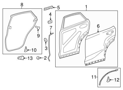 Door Components For 2015 Lexus Nx200t