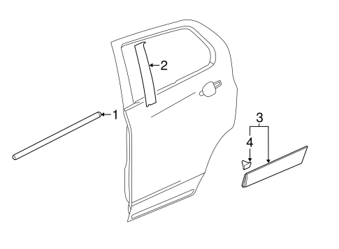 Gm Belt Molding 95370080