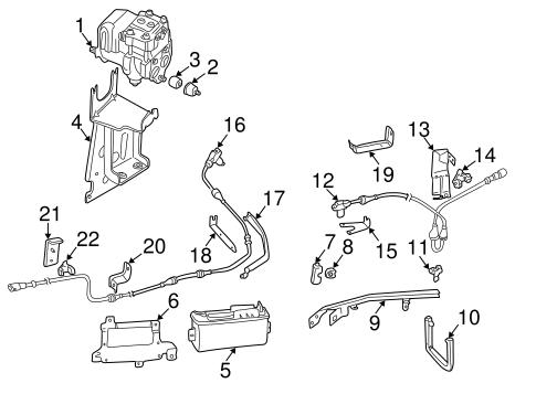 Volkswagen Control Module Bracket 7d0614711b
