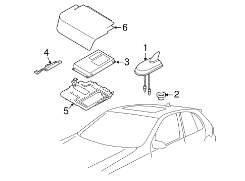 antenna assembly volkswagen 3c0 035 507 r vwpartsvorte. Black Bedroom Furniture Sets. Home Design Ideas