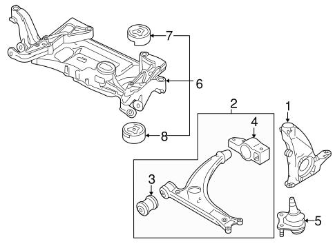Suspension Components For 2006 Volkswagen Passat