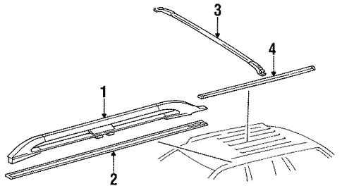 Luggage Carrier for 1995 Mercedes-Benz E 320 #0