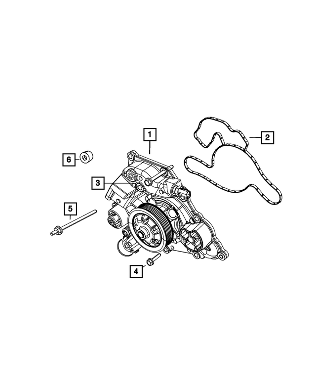 Water Pump - Mopar (53022-095AE)