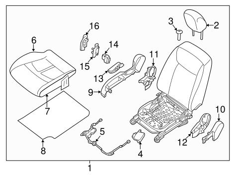 Passenger Seat Components For 2016 Nissan Leaf