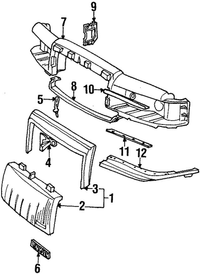 1990 1997 Lincoln Town Car Header Panel Brace Fovy8b057a