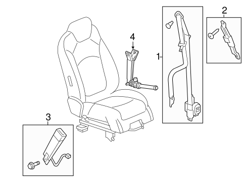 oem 2014 buick enclave front seat belts parts gmpartsonline net Black 2014 Buick Enclave Interior electrical front seat belts for 2014 buick enclave 1