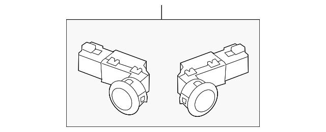Honda Genuine 08V67-TA0-150K Back-Up Sensor
