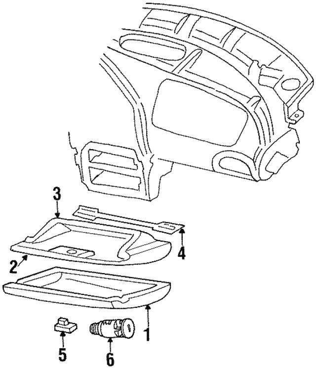 1996 2000 Chrysler Sebring Glove Box Door Km61sk5