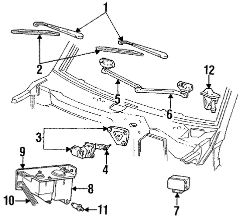 wiper components for 1992 ford bronco