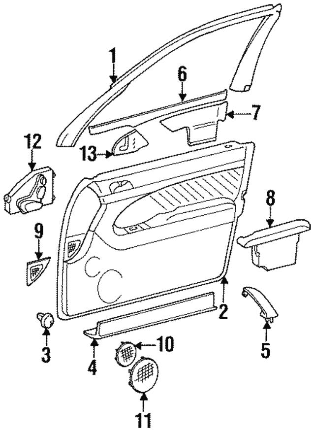 1992 1999 Mercedes Benz Seat Switch 140 820 05 10