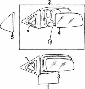 Genuine Hyundai 00272-02010 Inside Rear View Mirror Assembly