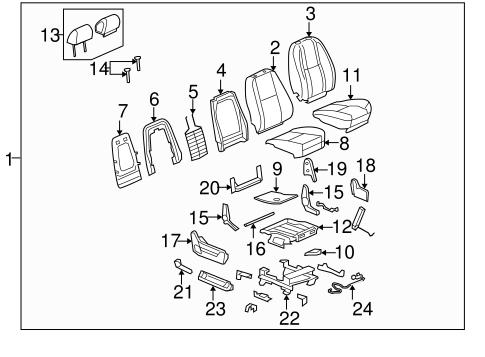 Oem 2013 Chevrolet Silverado 1500 Front Seat Components Parts