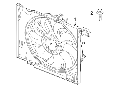 Cooling Fan For 2016 Jaguar Xjr