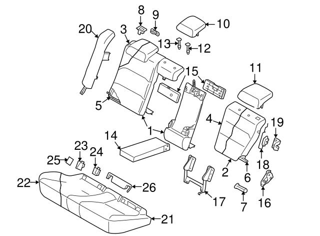 2007 Subaru Legacy Headrest 64261ag50ajc