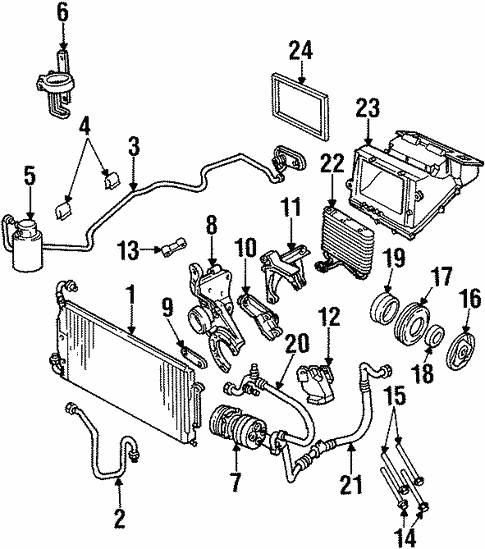 Condenser Compressor Lines For 1996 Oldsmobile Achieva