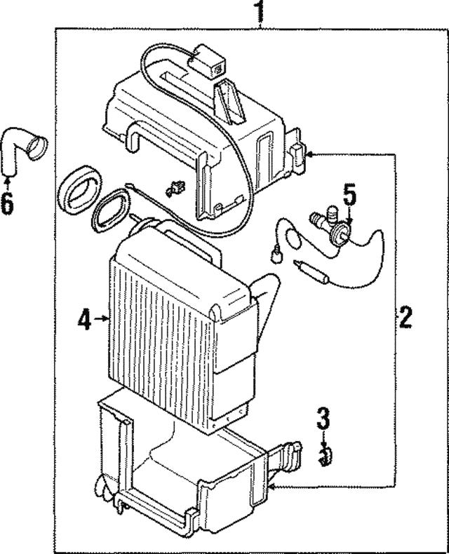 Mitsubishi Evaporator Assembly Mr315745