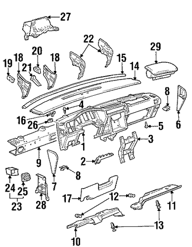 oem instrument panel for 1997 oldsmobile silhouette