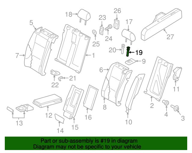 Headrest Guide Audi 1k0 886 920 B Mg6 Audiparthaus