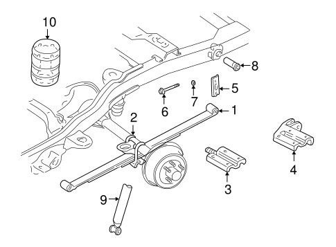 Rear Suspension For 2000 Gmc Jimmy Gm Parts Online