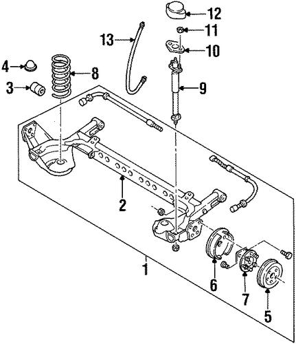 oem rear brakes for 1998 pontiac grand am