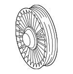 Pulley - Mercedes-Benz (611-234-01-93)