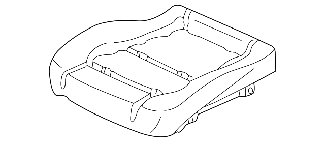 Pad & Frame, R Front Seat Cushion