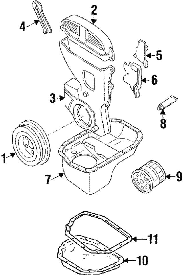 Hyundai Elantra Engine Crankshaft Pulley 2312433111 Genuine Fits