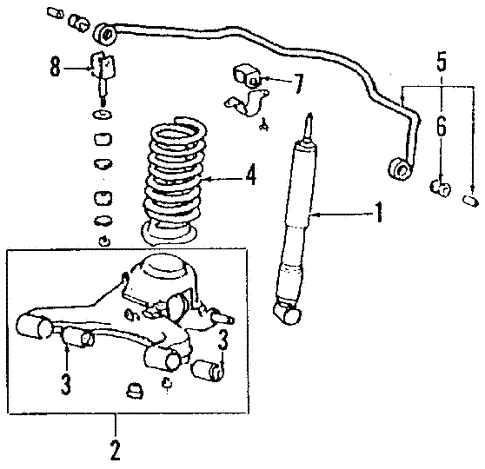 Rear Suspension/Rear Suspension for 1986 Toyota Supra #4