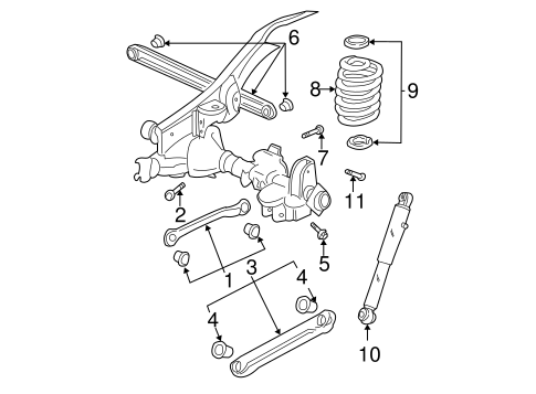 Rear Suspension for 2000 GMC Yukon #0