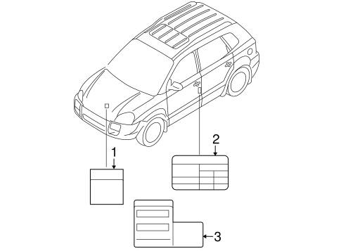 Genuine Hyundai 32450-37450 Emission Control Label