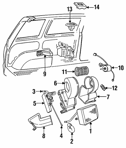 Heater Components for 1991 Chrysler Town & Country #0