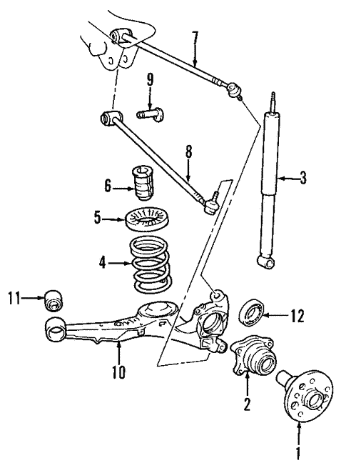 Hyundai Santa Fe Rear Suspension Diagram