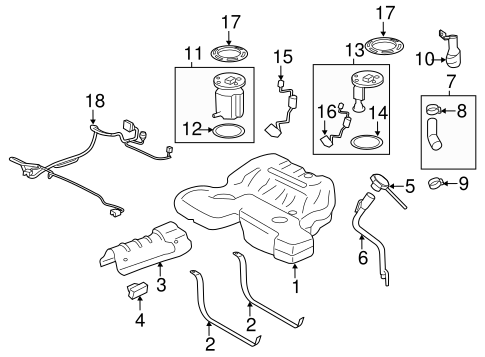 Fuel System Components For 2011 Cadillac Cts