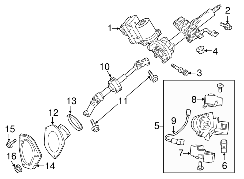 STEERING/STEERING COLUMN ASSEMBLY for 2011 Toyota Sienna #1