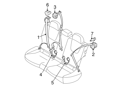 Rear Seat Belts For 2018 Subaru Forester