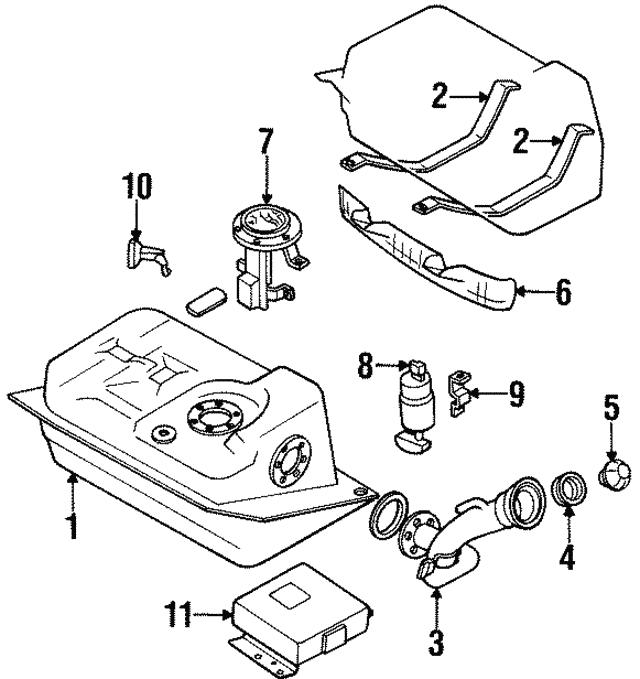 1990 1996 Nissan 300zx Fuel Pump Assembly 17042 40p05
