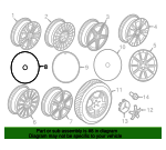 Wheel, Alloy - Mercedes-Benz (205-401-18-00-7X21)