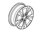 5-Twin-Spoke Wheel, 45.7 Cm (18 Inch) - Mercedes-Benz (205-401-29-02-7X21)