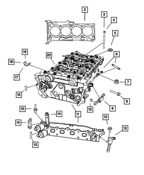 Cylinder Head For 2007 Dodge Caliber Thomas Dodge Parts