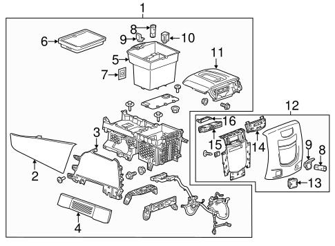 Center Console for 2015 Cadillac Escalade | GMPartOnline