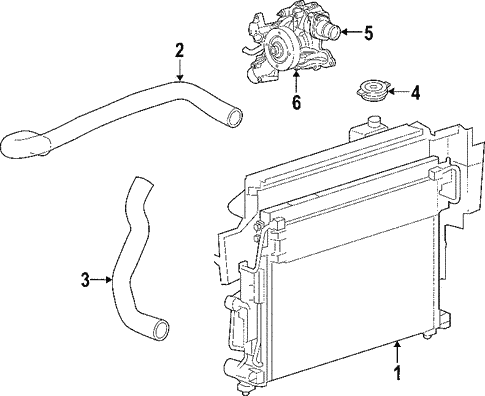 Radiator Components For 2010 Jeep Commander
