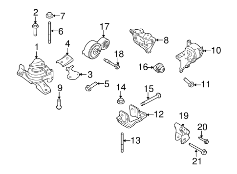 2011 ford taurus engine diagram engine   trans mounting for 2011 ford taurus tascaparts com  engine   trans mounting for 2011 ford