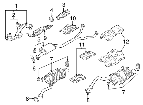 2008 hyundai elantra engine diagram exhaust components for 2008 hyundai veracruz delray hyundai parts  2008 hyundai veracruz