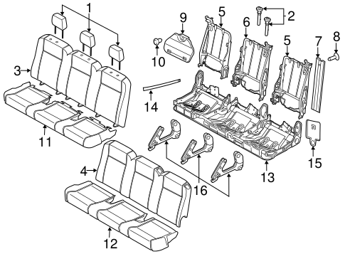 Rear Seat For 2015 Ford Transit 350 Hd