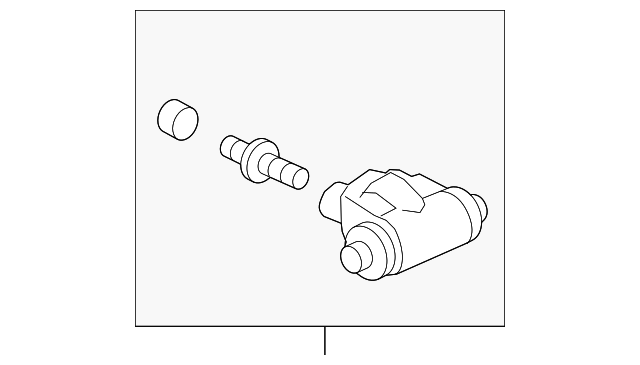 Cylinder Assembly, Rear Wheel