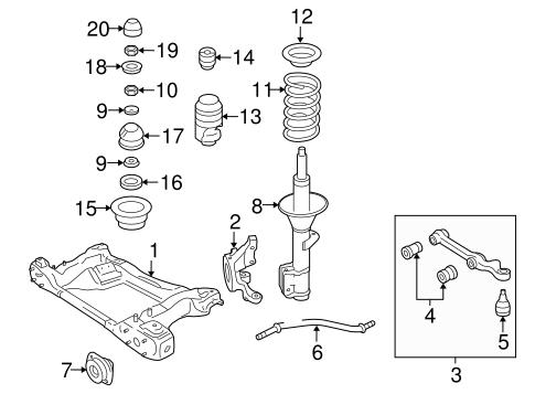 oem 2005 pontiac gto suspension components parts gmpartsonline net